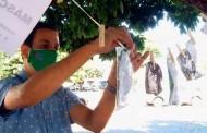 """Igreja em Morrinhos (GO)  cria """"varal solidário"""" com máscaras para doação"""