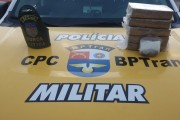 BPTran apreende mais de 5kg de crack escondidos numa mochila, em Rio Largo, AL