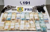Homens são presos com arma de fogo e mais de R$ 80 mil de casa de jogos de azar em São Sebastião, AL