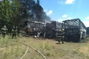 Incêndio atinge sete ônibus em terreno no Tabuleiro do Martins, Maceió
