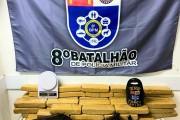 Jovem é preso com 50 kg de maconha e armas na Cidade Universitária, em Maceió