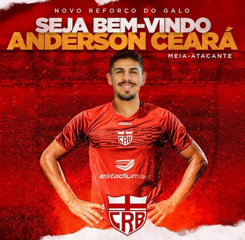 CRB anuncia a contratação do meia Anderson Ceará