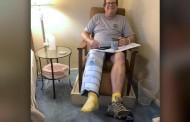 """""""Eu sabia que Deus cuidaria de mim"""", diz homem que passou por 13 cirurgias após acidente"""