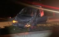Motorista fica ferido ao cochilar ao volante e bater em mureta de proteção na AL-101 Sul