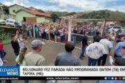 Bolsonaro faz parada não programada em cidade de MG, surpreende moradores e multidão grita seu nome; VEJA VÍDEO